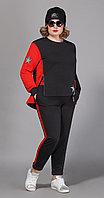 Спортивная одежда Сч@стье-7028р-3, черный+красный, 42