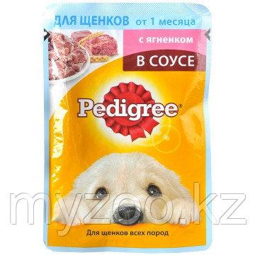 Влажный корм Педигри пауч для щенков ягненок промо 100 гр