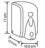 Дозатор (диспенсер) Vialli для пенки и жидкого мыла 500 мл.Черный цвет. Мыльница., фото 2