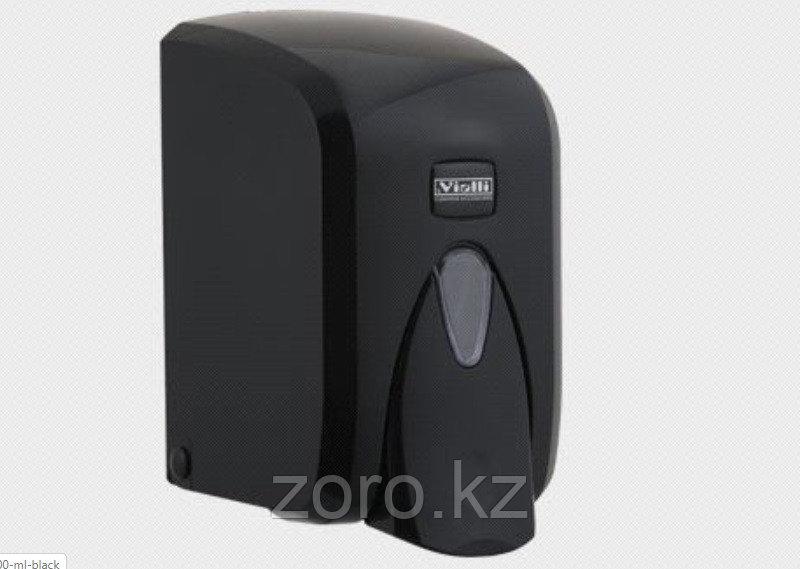 Дозатор (диспенсер) Vialli для жидкого мыла 500 мл черный цвет
