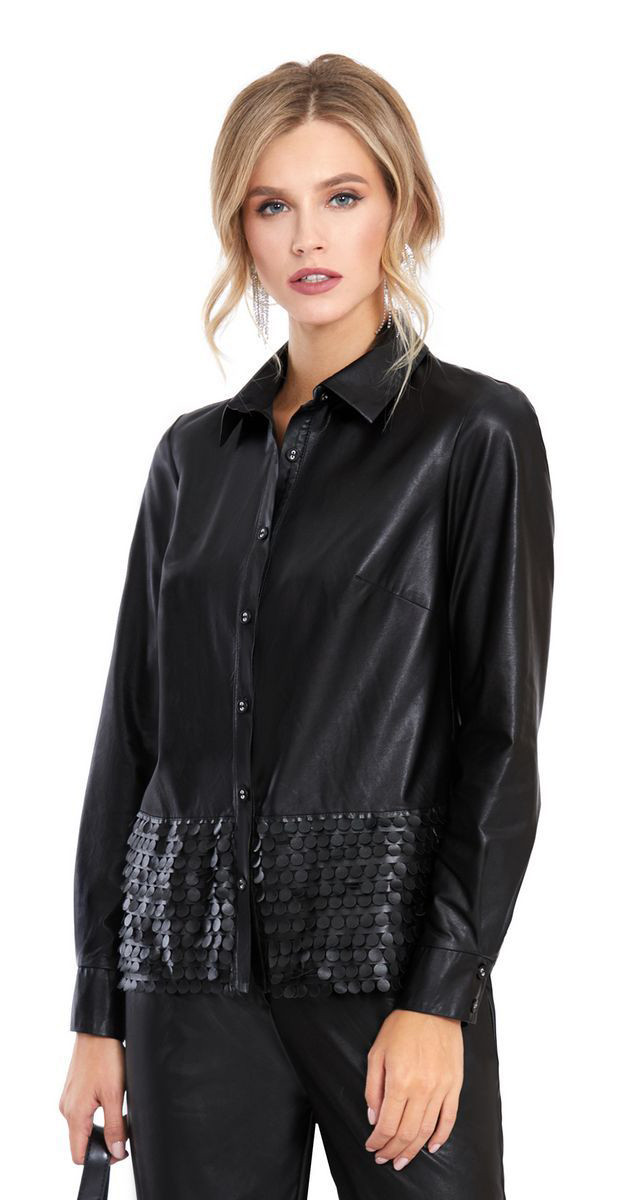 Блузка PiRS-903, черный, 42