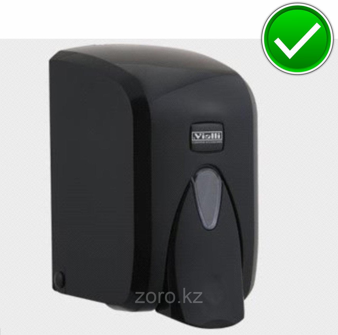 Дозатор (диспенсер) Vialli для пенки и жидкого мыла 500 мл.Черный цвет. Мыльница.