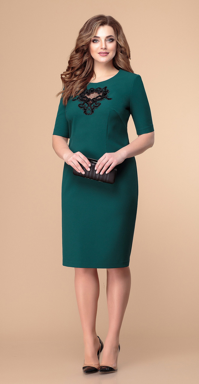 Платье Romanovich-1-1930/1, зеленый, 50