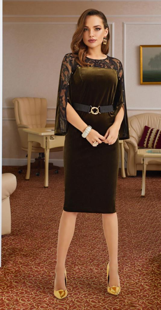 Платье Lissana-3886, темный, 50