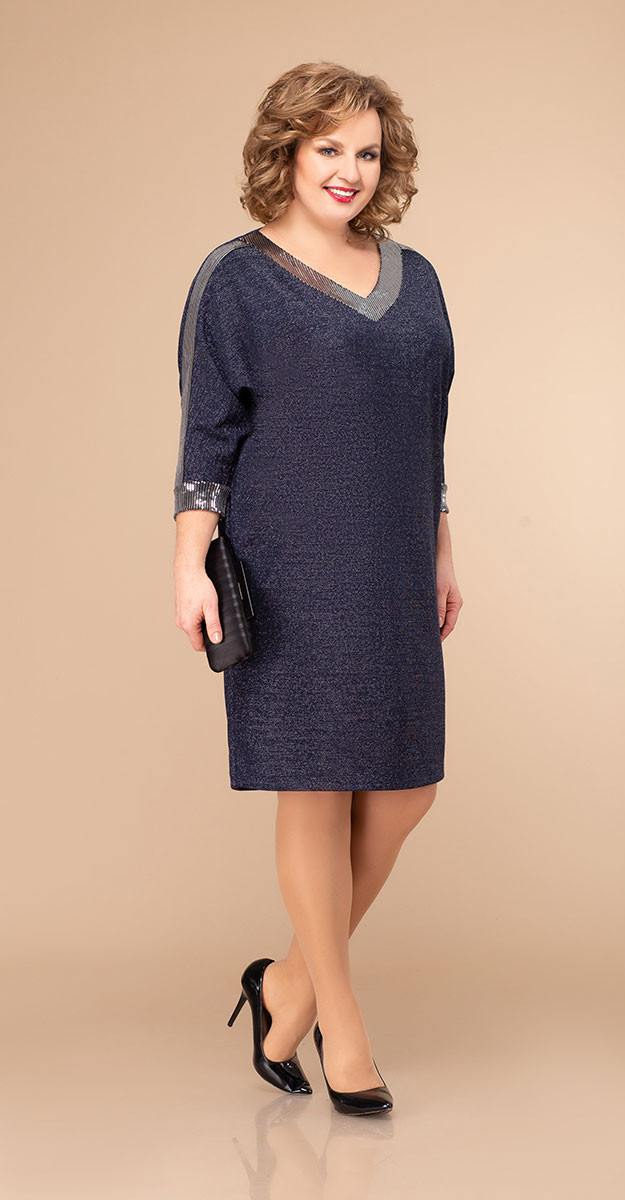 Платье Svetlana Style-1346, синий, 56
