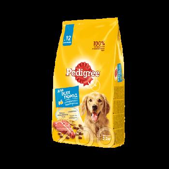 Сухой корм Педигри для взрослых собак всех пород говядина 2,2 кг
