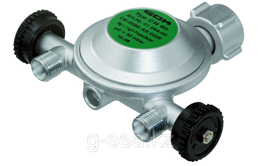 Регулятор давления газа GOK 1кг/час 50мбар PS16бар KLFx2-отв. G1/4LH-KN