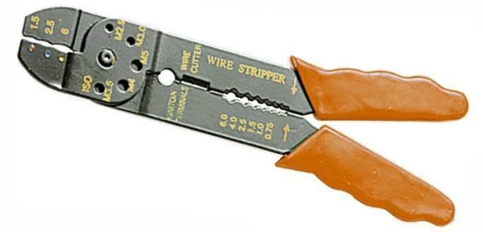 Щипцы, 210 мм, для зачистки электропроводов и обжима контактных клемм, 1,5-6,5 мм