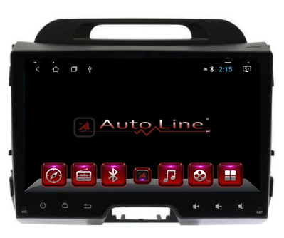 Автомагнитола AutoLine  Kia Sportage 2011-2015 HD ЭКРАН 1024-600 ПРОЦЕССОР 4 ЯДРА (QUAD CORE), фото 2