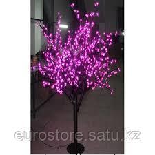 Светодиодное дерево розовое