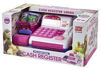 Детская интерактивная касса CASH REGISTOR со сканером и продуктами, свет, звук
