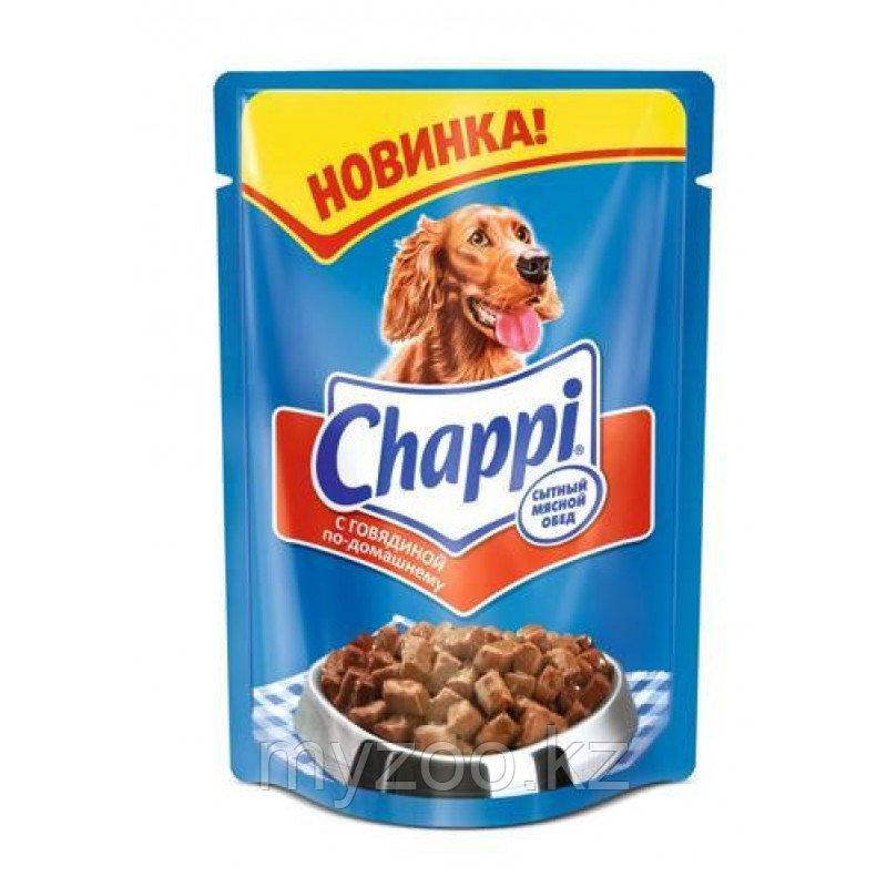 Влажный корм Чаппи с говядиной по-домашнему 100 гр