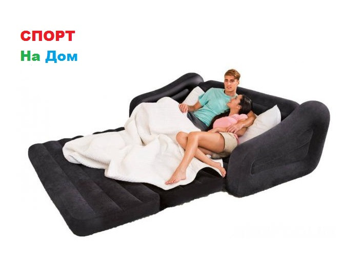 Надувной диван-трансформер Intex 68566 (Габариты:193 х 221 х 66 см)
