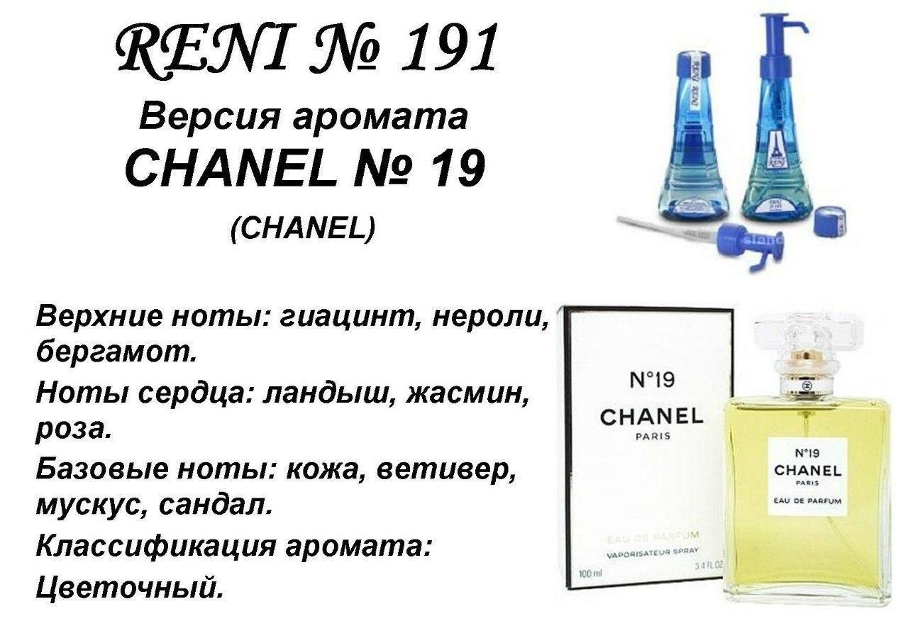 Аромат направление chanel 19 (chanel) 100мл