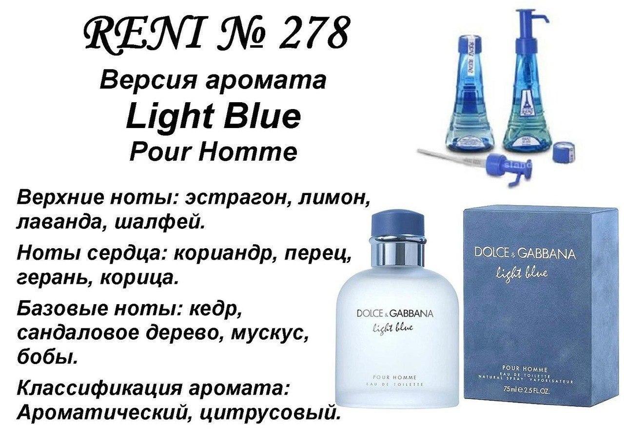 Аромат направление light blue pour homme (d&g) 100мл