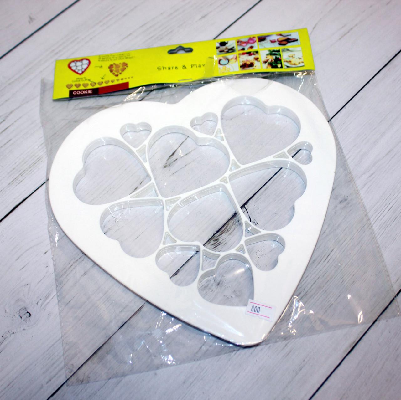 """Вырубка для печенья с штампом """"сердце"""""""