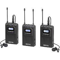 Комплект беспроводных микрофонов петличек Boya BY-WM8 PRO-K2 (1 приемник + 2 передатчика)