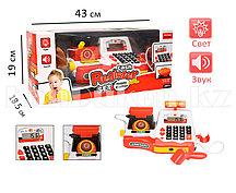 Детский набор кассовый аппарат Cash Register Set светящийся со звуковыми эффектами красный 35535B