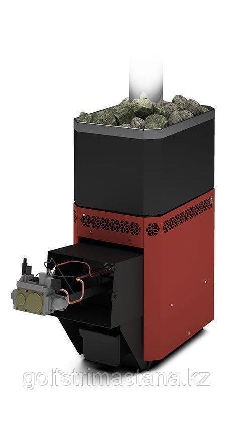 Печь газовая для бани и сауны Русь-12 Л с АГГ13П