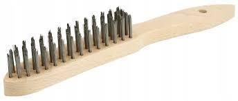 Щётка ручная с деревянной ручкой 4 ряда 295/145 OSBORN Стальная проволока 0,35mm T25