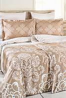 Комплект постельного белья Ozdilek Bej Serra Семейный сатин