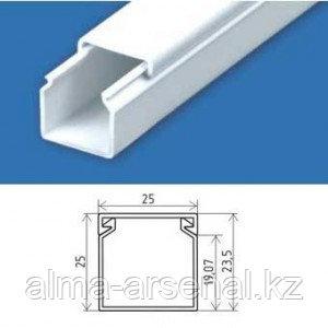 Кабель-канал 25х25 мм цвет белый, уп.50м