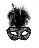 Маска карнавальная с перьями Венецианская