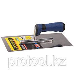 """Гладилка STAYER """"PROFI"""" нержавеющая с двухкомпонентной ручкой, 130х280мм"""
