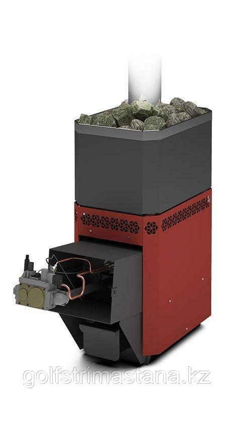 Печь газовая для бани и сауны Русь-12 Л Профи с АГГ13П