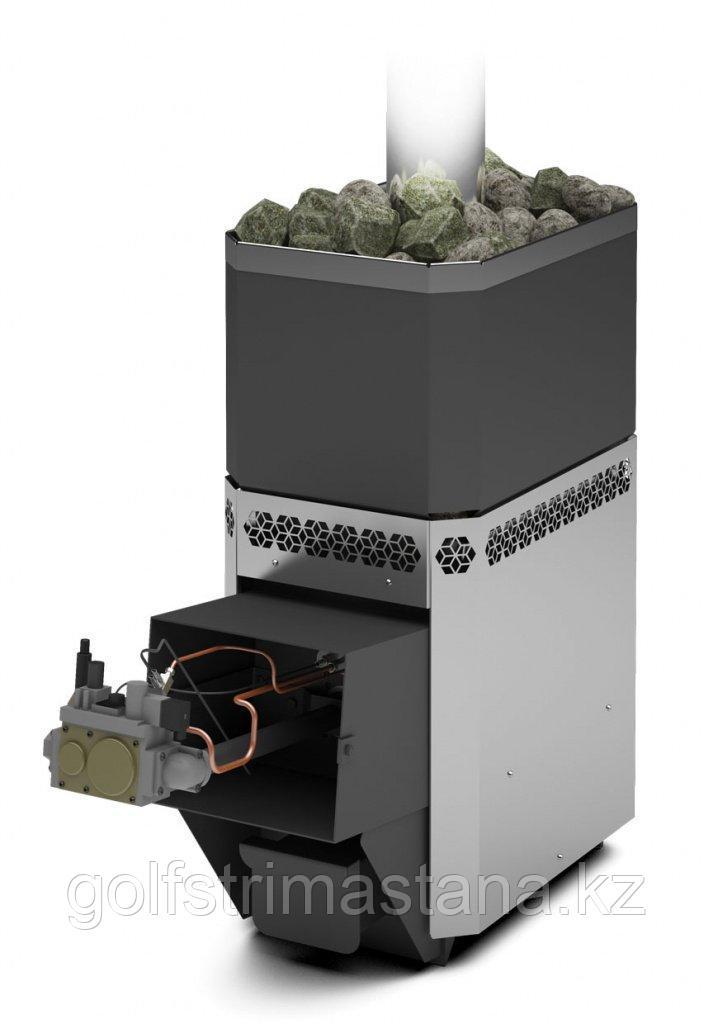 Печь газовая для бани и сауны Русь-12 ЛНЗП Профи с АГГ13П