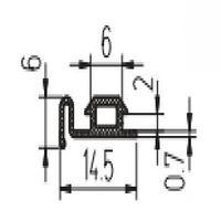 Уплотнитель притвора створок среднеповоротного окна РПР-04 СИАЛ / КраМЗ