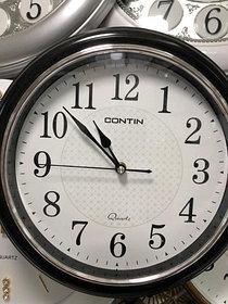 Часы настенные пластиковые, круглые,  корпус черный