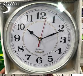 Часы настенные  (d.30 см). серый