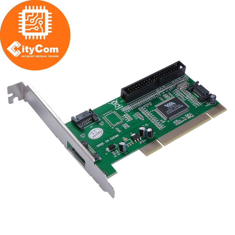 Контроллер плата PCI to Sata & IDE, расширитель портов SATA и IDE