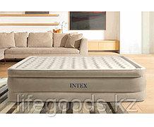 Надувная кровать двуспальная со встроенным насосом Intex 64428