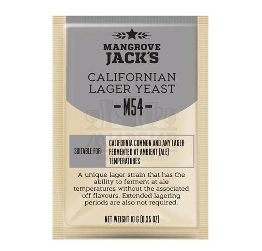 Дрожжи Mangrove Jack's Californian Lager M54, 10 г