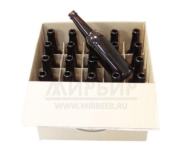 Бутылки пивные 0,5 л, 20 шт в картонной коробке