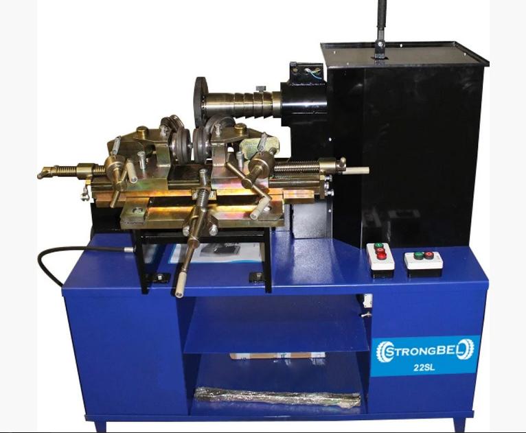 Универсальный станок для литых и стальных дисков STRONGBEL 22SL (2 скорости + электропривод вала )