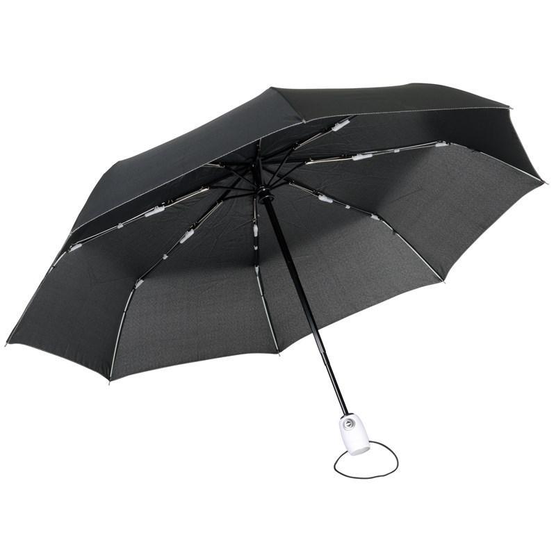 Складной зонт-автомат Streetlife   чёрный / белый