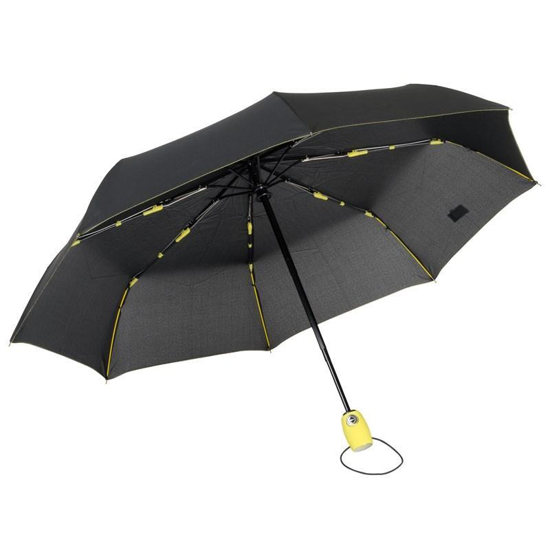 Складной зонт-автомат Streetlife | чёрный / жёлтый