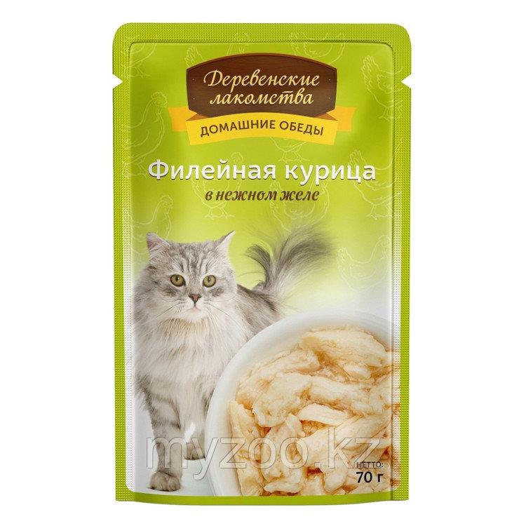 Деревенские лакомства влажный корм для кошек с Курицей 70 гр