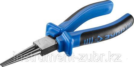 Круглогубцы ЗУБР, особостойкое спец. покрытие Н12Х1 (никель/хром), двухкомпонентные рукоятки, 160мм, фото 2