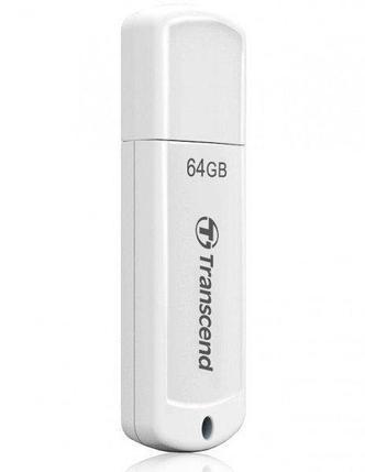 USB Флеш 64GB 2.0 Transcend TS64GJF370 белый, фото 2