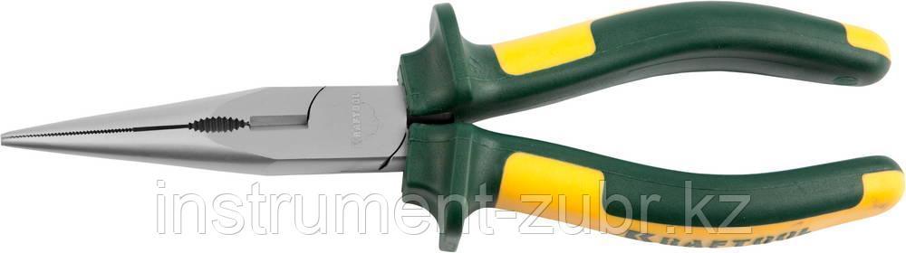 """Тонкогубцы KRAFTOOL""""KRAFT-MAX"""",Cr-Mo,маслобензост двухкомп рукоятки,шарнирное соединение 200мм"""