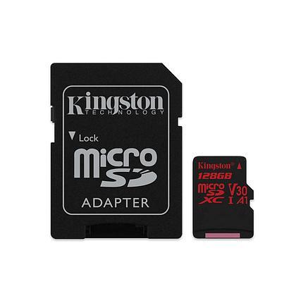 Карта памяти MicroSD 128GB Class 10 U3 A1 Kingston SDCR/128GB, фото 2
