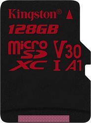 Карта памяти MicroSD 128GB Class 10 U3 A1 Kingston SDCR/128GBSP