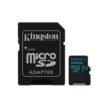 Карта памяти MicroSD 128GB Class 10 U3 Kingston SDCG2/128GB, фото 2
