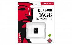 Карта памяти MicroSD 16GB Class 10 U1 Kingston SDCS/16GBSP