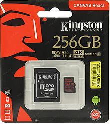Карта памяти MicroSD 256GB Class 10 U3 A1 Kingston SDCR/256GB