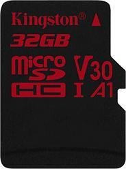 Карта памяти MicroSD 32GB Class 10 U3 A1 Kingston SDCR/32GBSP
